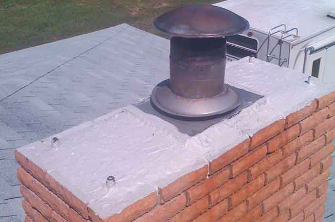 Waterproofed Chimney